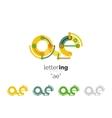Alphabet letter font logo business icon