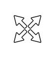 arrows line icon black vector image