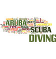 aruba scuba text background word cloud concept vector image vector image