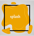 big yellow splash with lots of small splashes vector image vector image