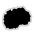 black silhouette of the country macedonia with vector image vector image