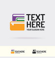 books logo trendy color style vector image vector image