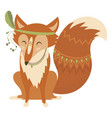 cartoon fox indian a cute vector image vector image