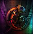 chameleon robot concept vector image