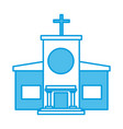 christian church building vector image