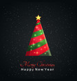 christmas tree with a greeting text vector image