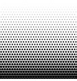 circle black halftone background vector image vector image