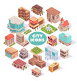 city icons round composition vector image