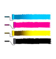 cmyk concept with brushes vector image