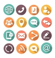 Communications colorful Icons vector image vector image