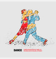 couple dancing tango outline tango vector image vector image