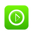 cursor to right in circle icon digital green vector image