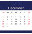 december 2018 calendar popular blue premium for vector image vector image