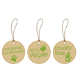 Eco friendly tags vector image vector image