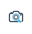 find camera logo icon design vector image