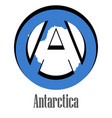 flag of antarctica of the world in the form of a vector image vector image