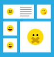 flat icon emoji set of delicious food wonder vector image vector image