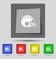 football helmet icon sign on original five colored vector image vector image