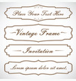 frames set design with text vector image vector image
