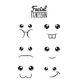 fun expression facial vector image