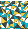 geometric seamless pattern in retro style vintage vector image vector image