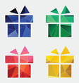 gift icon abstract triangle vector image vector image