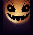 halloween moon background vector image vector image