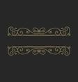 hand drawn decorative border in retro style vector image vector image