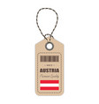 hang tag made in austria with flag icon isolated vector image vector image