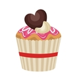 happy birthday delicious cupcake vector image vector image
