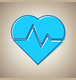 heartbeat sign sky blue icon vector image vector image
