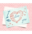 Hearts love Valentine background vector image