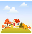House in fall vector image