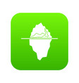 iceberg icon digital green vector image vector image
