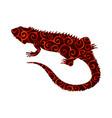 iguana lizard reptile spiral pattern color vector image