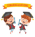 kid graduating vector image