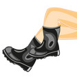 legs in rubber boot vector image vector image