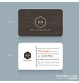 Modern Business card Design Template vector image vector image