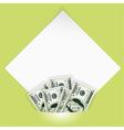 money photo mount vector image