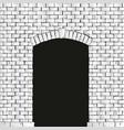 old brick arch vector image