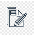 paper and pencil concept linear icon isolated on vector image