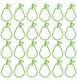 pears fresh fruits pattern vector image