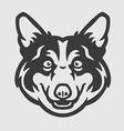 Pembroke Welsh Corgi Head Logo Mascot Emblem vector image vector image