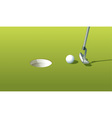 Putting green vector image vector image