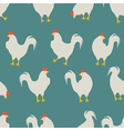 rooster pattern blue vector image vector image