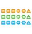 set of full screen icons vector image vector image
