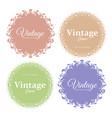 set of round floral vintage vector image
