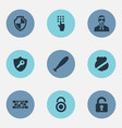 set of simple security icons vector image