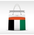 Shopping bag with flag UAE vector image vector image