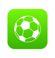 soccer ball icon digital green vector image